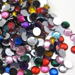 Plastic Craft Rhinestones  7mm - 4000 PIECES