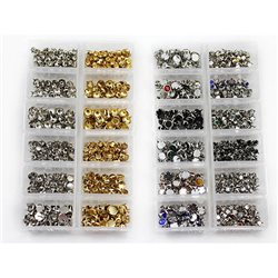 1500 Pieces Bedazzler Bulk Combo Rhinestone & Stud Refills