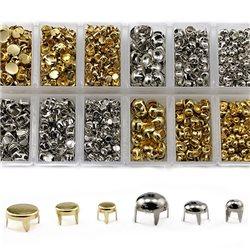 Bedazzler Metal Studs Refills. Bulk Craft Box. Over 1400 Pieces
