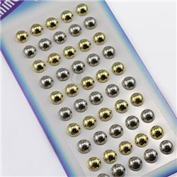 7mm  Stick On Pearl Studs Gems For Face, Body and More! - 50 Pieces