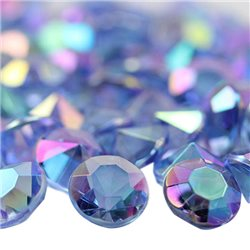 Acrylic Diamond Confetti AB Coating 12mm 50 Pcs