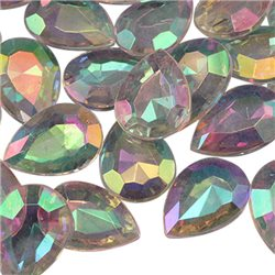 18x13mm Teardrop Decorating Gems AB Coating For Table Scatter Wedding Decorations