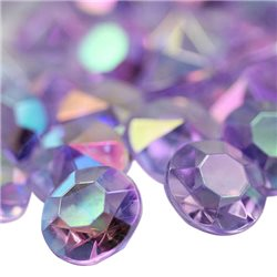 Acrylic Diamond Confetti AB Coating 14mm 50 Pcs