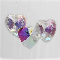 40mm Swarovski Immitation Crystal AB Large Heart Pendant