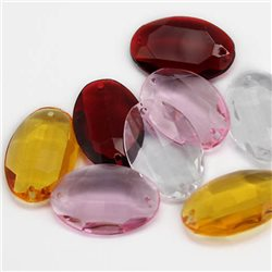25x18mm Point Back Oval Gems 2 Holes No Foil
