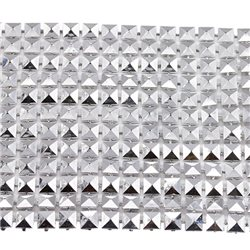 Plastic Square Pyramid Trimming Mesh Metal Finish