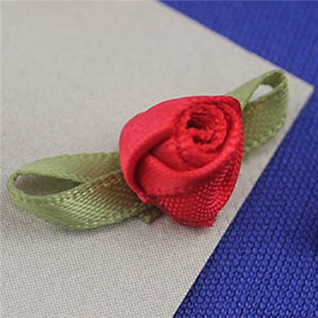 "1 3/16"" Small Fabric Rose Floral Embellishments For Scrapbooking - 40 Pieces"