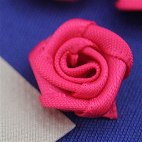"19/32"" Pink Fabric Rose Floral Embellishments For Scrapbooking - 50 Pieces"