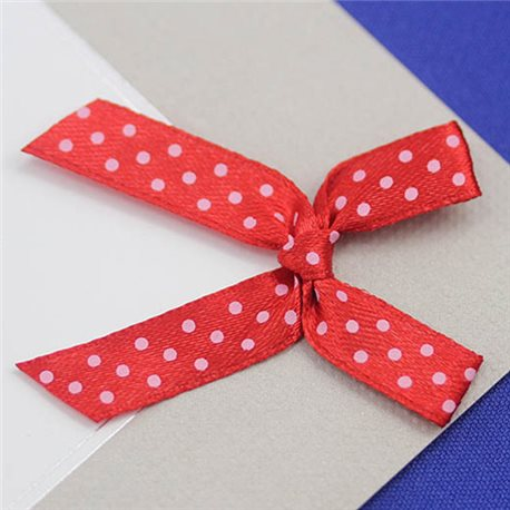 "1 31/32"" Polka Dot Fabric Bow Embellishments For Scrapbooking - 50 Pieces"
