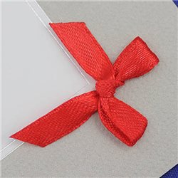 "1 3/8"" Red Fabric Bow Embellishments For Scrapbooking - 50 Pieces"