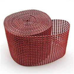 Soft And Flexible Imitation Rhinestone Ribbon Trimming Mesh