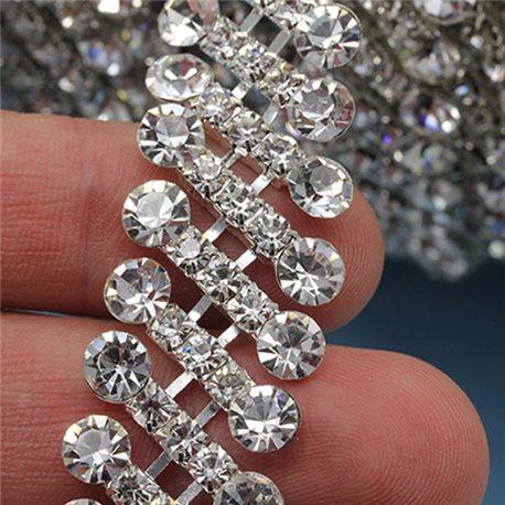 Crystal Silver Rhinestone Chain Style 1443 - 1 Yard
