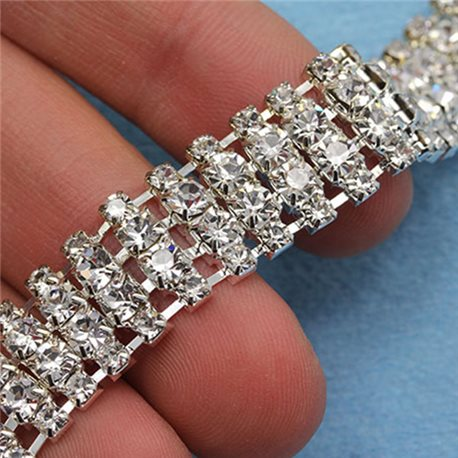 Crystal Silver Rhinestone Chain Style 1262 - 1 Yard