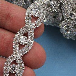 Crystal Silver Rhinestone Chain Style 1846 - 1 Yard