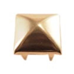 12.5mm Gold Style 8526 Square Pyramid Nailhead 6 Prongs Non Rusting - 50 Pieces
