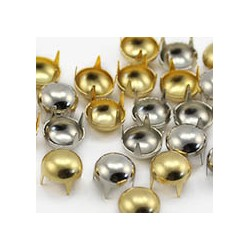 6.5mm Gold Pearl Stud 4 Prongs Non Rusting  - 125 Pieces
