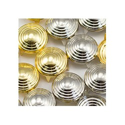Size 20 5mm Gold Spiral Nailhead 4 Prongs Non Rusting - 100 Pieces