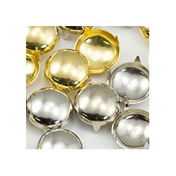 Size 16 Gold Pearl Nailheads 4 Prongs Non Rusting - 150 Pieces