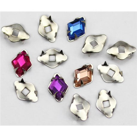 Diamond (Rhombus) Tiffany Settings 10x7mm