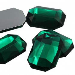 25x18mm Flat Back Octagon Acrylic Gemstones For Crafts