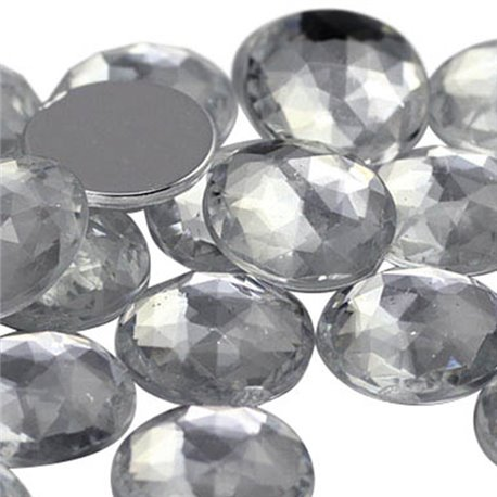 Round Acrylic Gems Flat Back 11mm
