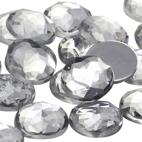 Round Acrylic Gems Flat Back 20mm