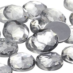 Round Acrylic Gems Flat Back 22mm 20 Pcs