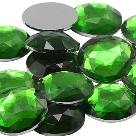 Round Acrylic Gems Flat Back 25mm