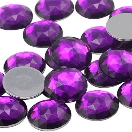 Round Acrylic Gems Flat Back 30mm