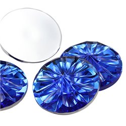 Round Burst Acrylic Gems Flat Back 27mm