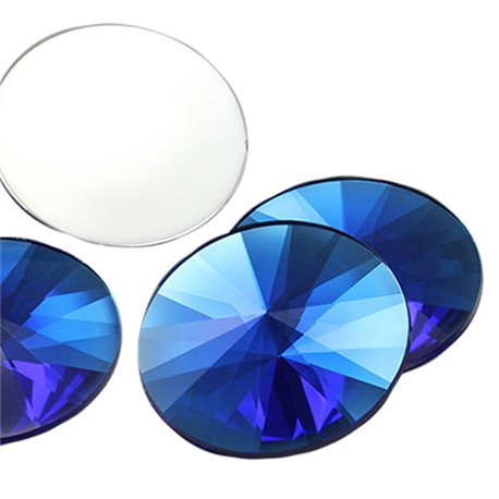 Round Satellite Acrylic Gems Flat Back 40mm