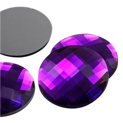 "Extra Large Flat Back Gems Round 45mm / 1-3/4"" 4 Pcs"