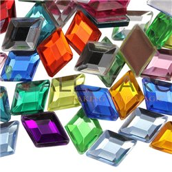 Diamant Acrylique Gemmes Flat Back 10x7mm 100 Msx