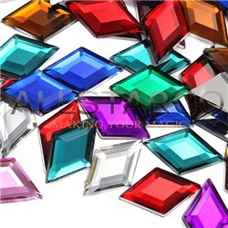 Diamond Acrylic Gems Flat Back 18x11mm 35 Pcs