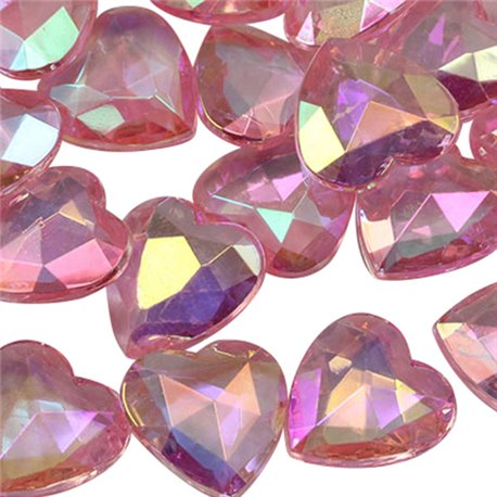 Heart Decorating Gems AB Coating 16mm
