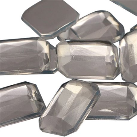 Octagon Acrylic Gems Flat Back 25x18mm