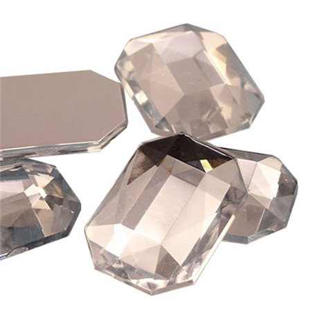 Octagon Acrylic Gems Flat Back 8x6mm