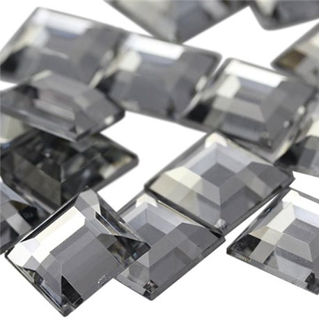 Square Acrylic Gems Flat Back 12mm