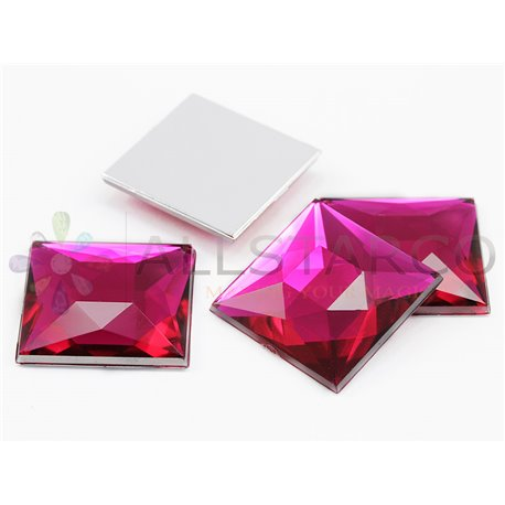 Square Acrylic Gems Flat Back 24mm