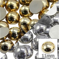 Rond Acrylique Gold Metallic Dos Plat Cabochons