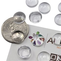 Round Clear Acrylic Cabochons Flat Back 11mm