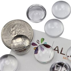 Round Clear Acrylic Cabochons Flat Back 15mm 25 Pcs