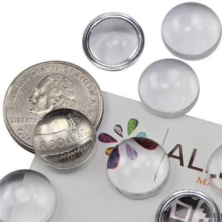 Round Clear Acrylic Cabochons Flat Back 15mm