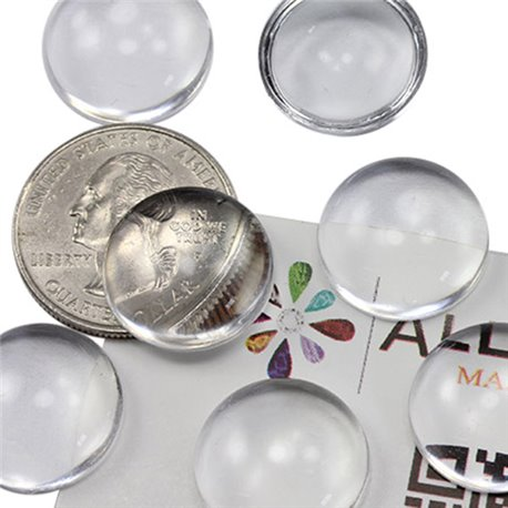 Round Clear Acrylic Cabochons Flat Back 18mm