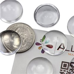 Round Clear Acrylic Cabochons Flat Back 20mm