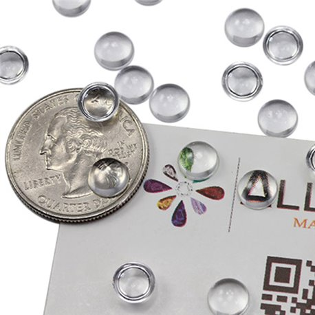 Round Clear Acrylic Cabochons Flat Back 7mm