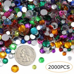 Rhinestones 5-6-8mm Assorted in Bulk 2000 Pcs.