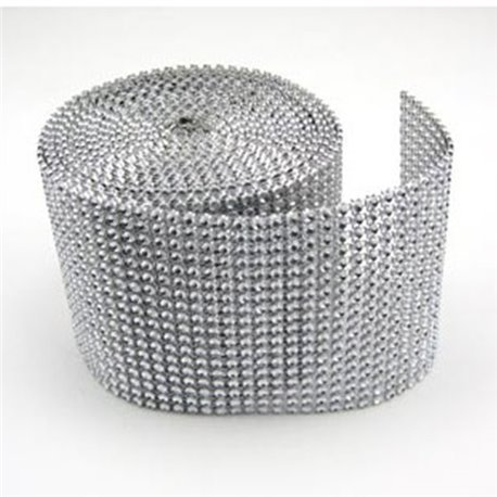 Bling Rhinestone Diamond Mesh Ribbon Wrap