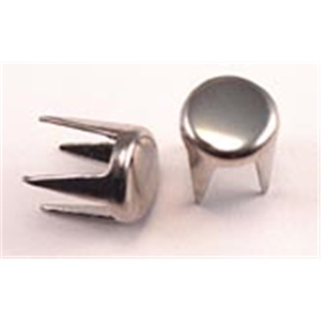 Heavy Duty Silver Leather Studs Style 20Flat Extra Long Leg 5Mm