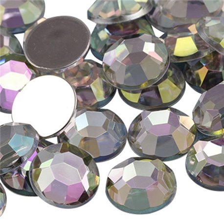 Acrylic Rhinestones Flat Back 14mm 20 Pcs
